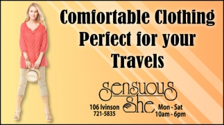 Comfortable Clothing Perfect for your Travels