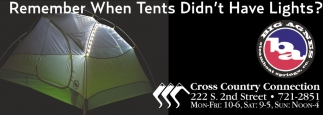 Remember when tents didn't have lights?