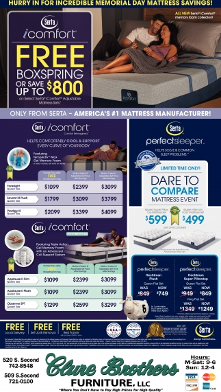 Free Boxspring or save up to $800
