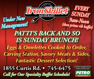 Patti's Back and so is Sunday Brunch