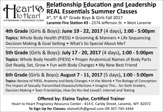 Relationship Education and Leadership REAL Essentials Summer Classes