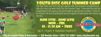 Youth Disc Golf Summer Camp