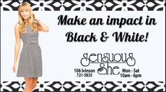 Make an impact in Black and White!