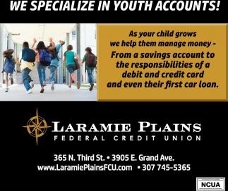 We specialize in youth accounts!