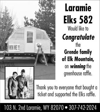Congratulations to the Grende Family