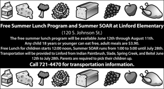 Free Summer Lunch Program and Summer SOAR