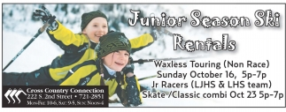 Junior Season Ski Rentals