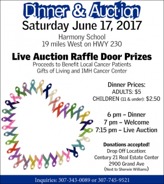 Live Auction Raffle Door Prizes