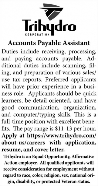 Accounts Payable Assistant