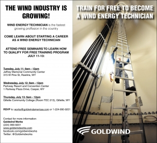 A Train for free to become a Wind Energy Technician