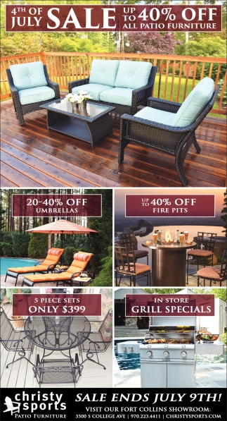 Ads For Christy Sports Patio Furniture In Laramie, WY   Christy Sports  Patio Furniture 4th