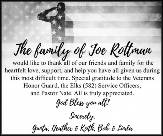 The Family of Joe Rottman