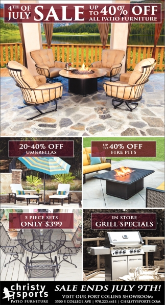 4th Of July Sale, Christy Sports Patio Furniture
