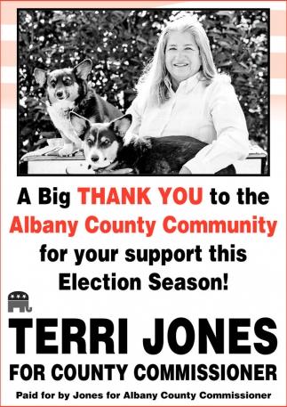 Vote Terri Jones for County Commissioner