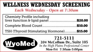 Wellness Wednesday Screening