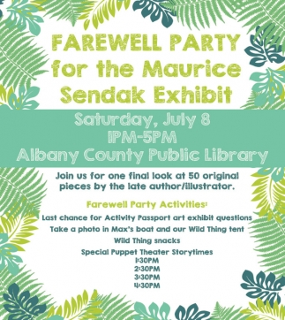 Farewell Party for the Maurice Sendak Exhibot
