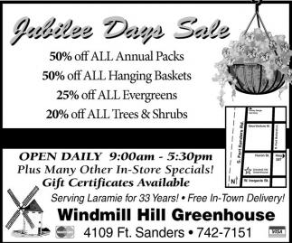 Jubilee Days Sale