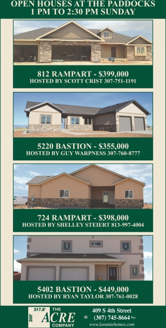 Open Houses at the Paddocks