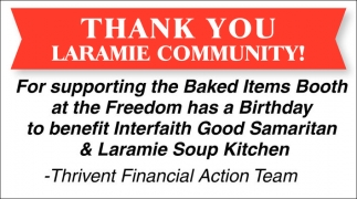 Thank You Laramie Community