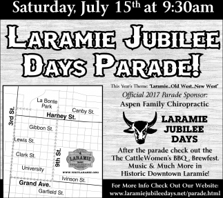 Laramie Jubilee Days Parade!