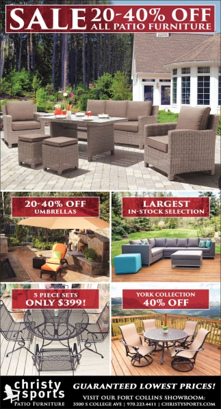 Ads For Christy Sports Patio Furniture In Laramie, WY