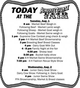 Today at the Albany County Fair
