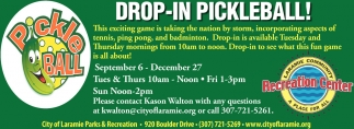 Drop-In Pickleball!
