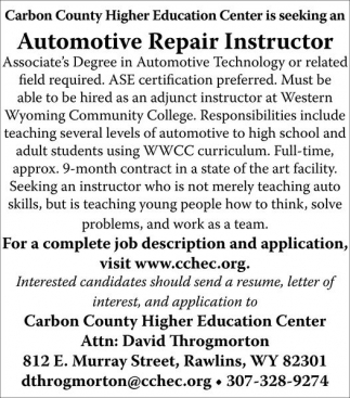 Automotive Repair Instructor