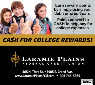 Cash For College Rewards!