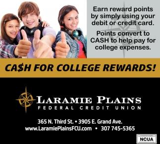Cash For College Rewards!