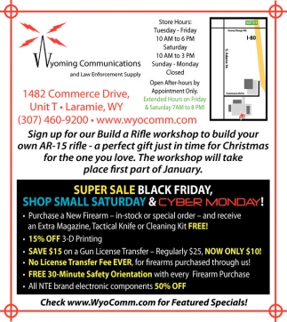 Super Sale, Black Friday, Shop Small Saturday and Cyber Monday!