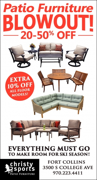 Ads For Christy Sports Patio Furniture in Fort Collins CO  sc 1 st  Laramie Boomerang & Sale 20-50% OFF Christy Sports Patio Furniture