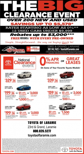 The Big Clearance Event