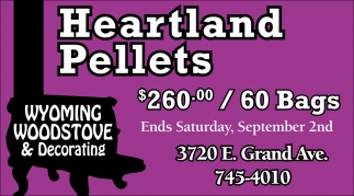 Heartland Pallets $260.00 / 60 Bags