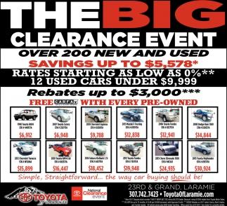 Toyota Of Laramie >> The Big Clearance Event Toyota Of Laramie Laramie Wy