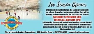 Ice Season Opener