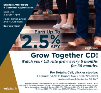 Earn Up To 2.5% APY