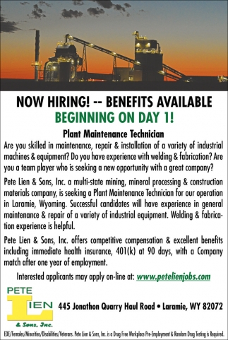 Now Hiring, Benefits Available!