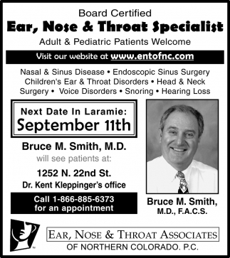 Board Certified Ear, Nose and Throat Specialist