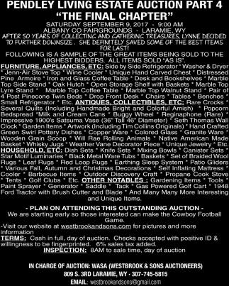 Pendley Living Estate Auction Part 4