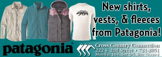 New shirts, vests, & fleeces from Patagonia!