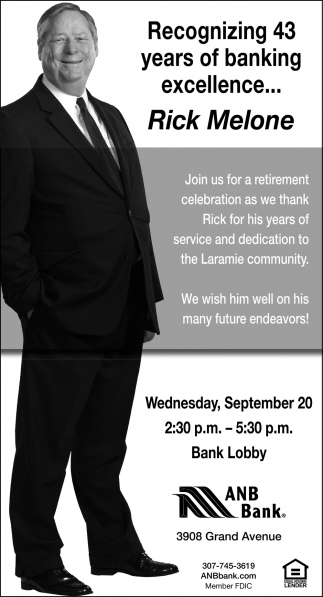 Recognizing 43 years of banking excellence