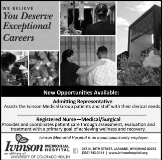 We believe You Deserve Exceptional Careers