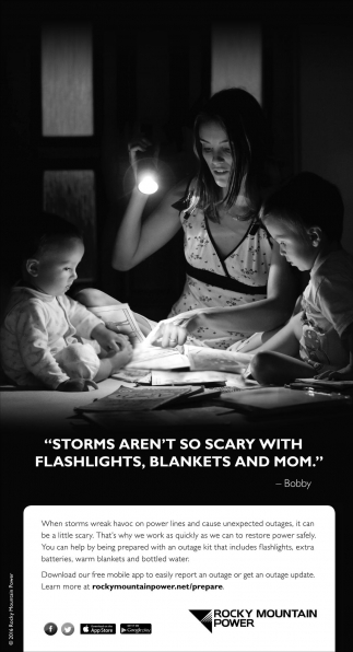 Storms aren't so scary with flashlights, blankets and mom!