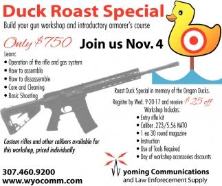 Duck Roast Special