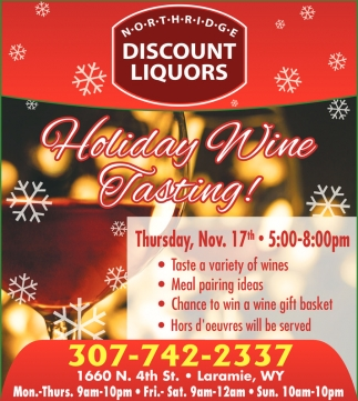 Holiday Wine Tasting!