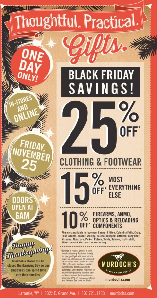 Black friday savings!