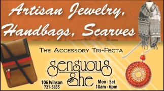 Artisan Jewelry. Handbag. Scarves
