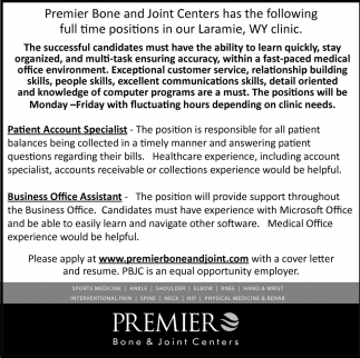 Patient Account Specialist