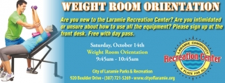 Weight Room Orientation